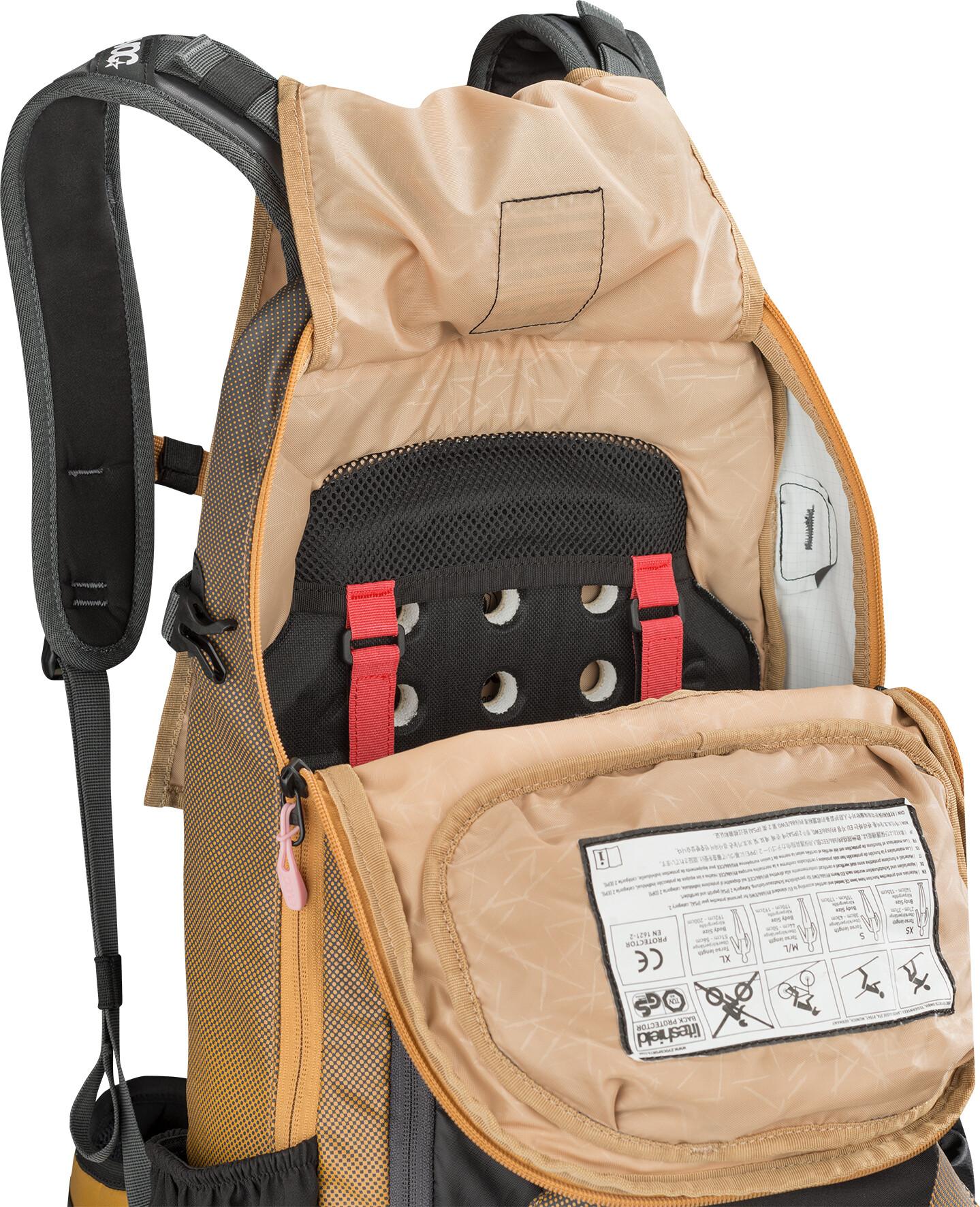 770a17aeed04e EVOC FR Enduro Backpack 16L grey/orange at Addnature.co.uk